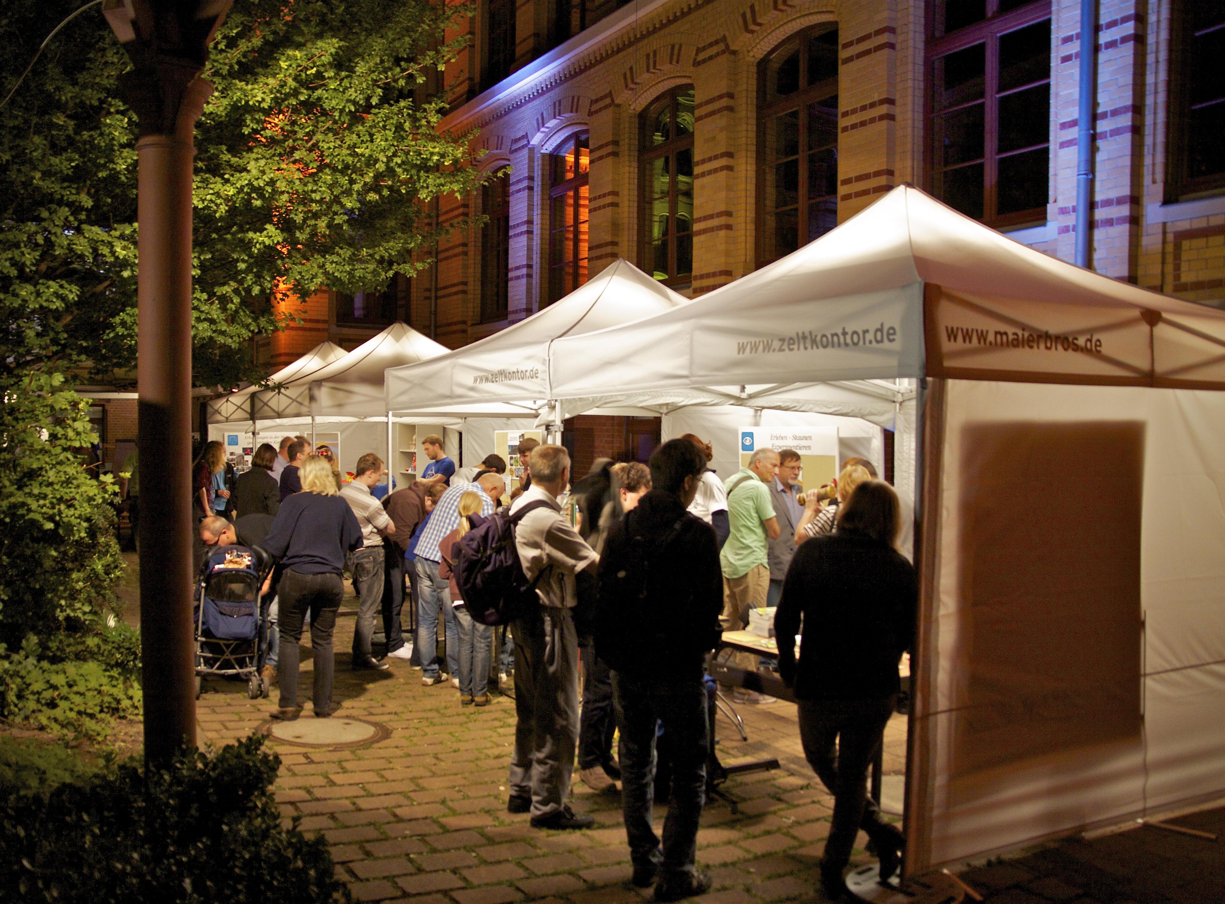 Zelte & Licht Lange Nacht der Wissenschaften 2014 Leipzig, Max-Planck-Institut für Mathematik in den Naturwissenschaften